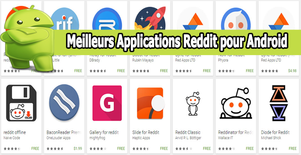 Applications Reddit pour Android