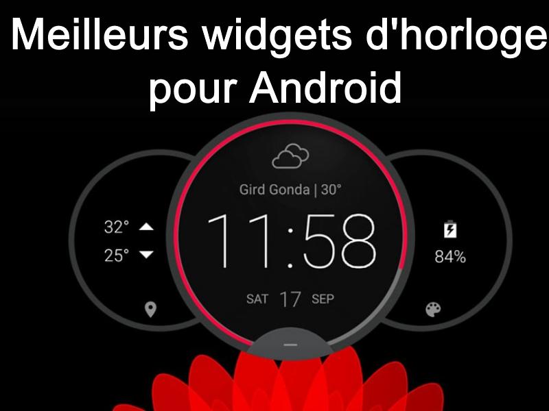 widgets d'horloge pour Android