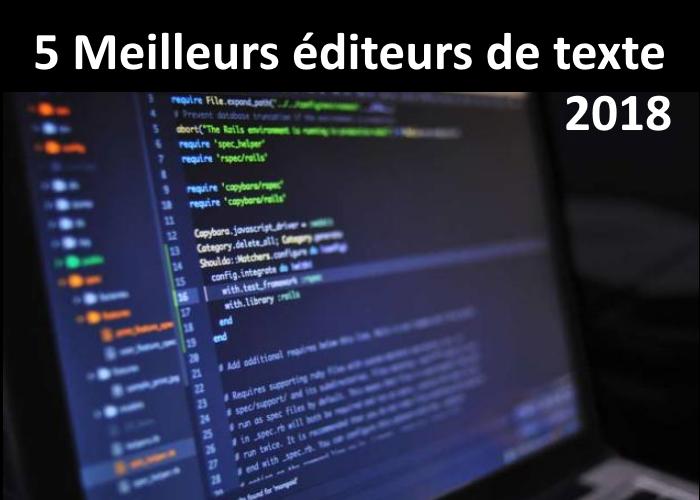 éditeurs de texte pour les développeurs