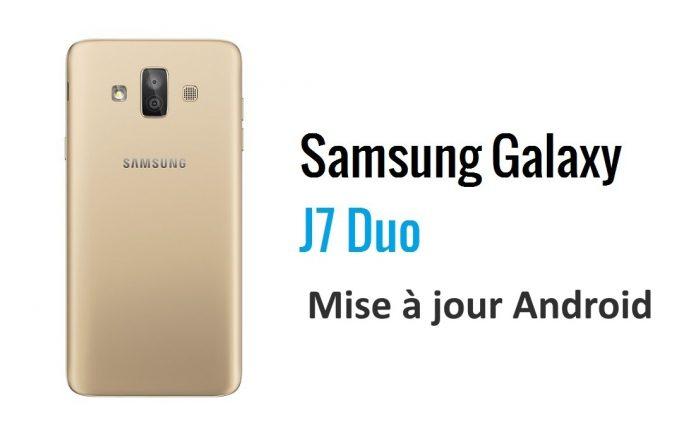 Samsung Galaxy J7 recevant la mise à jour Android 9 Pie
